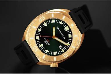 San Martin Bronze Automatic Diver watch