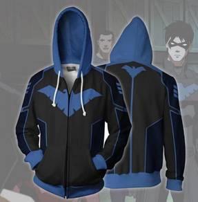 Nightwing Blue Black Hoodie jacket RBT0112