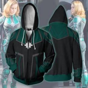 Captain marvel green hoodie jacket RBT0109