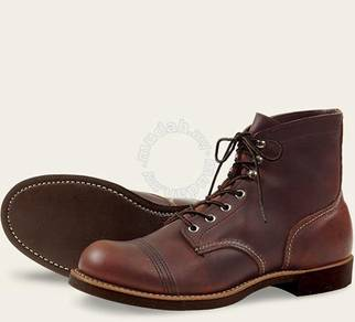 Work Boot Red Wing Men 6Inc Iron Ranger Amber 8111