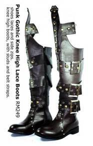 Punk Gothic Knee High Lace Boots