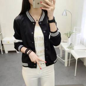 Women's Casual Stand Collar Baseball Jacket