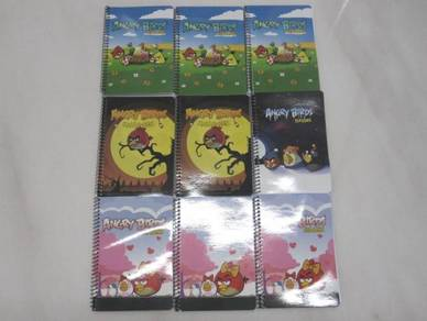 Lot Of 9 Angry Birds Note Pad