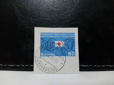 1975 Switzerland Stamp, Humanitarian Conference