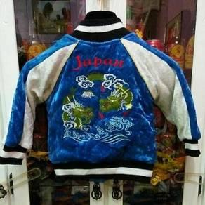 SukajanJapanese Dragon Embroidery Souvenir Velvet