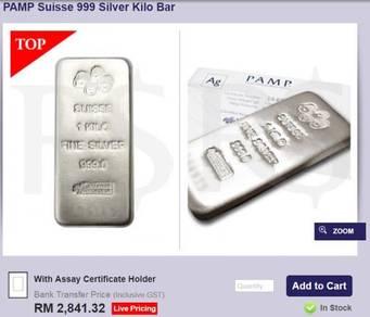 Silver Bar 1 kg PAMP