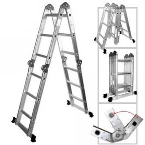 12 Steps Aluminium Folding Ladder Tangga Lipat