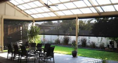 Outdoor Perforated Roller Blinds