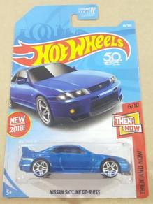 HotWheels Nissan Skyline GT-R R33 Blue US Card