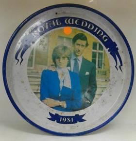 Vintage Royal Wedding 1981 Metal Serving Tray