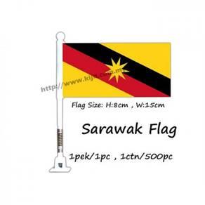 Sarawak flag with spring