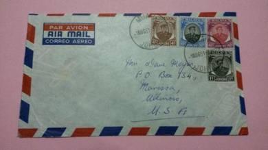 Antik Old Cover Muar USA 1958 No 404 RARE