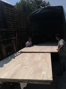 Kabinet kayu getah rubber wood sekeping