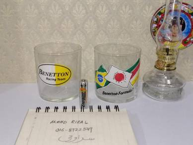 F1 BENETTON GLASS Racing Team Formula 1 Vintage