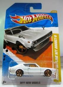 Hotwheels Nissan Skyline HT 2000GT-R #22 White
