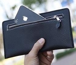 B0101 Retro Clutch Bag Ultra-Thin Men Long Wallet