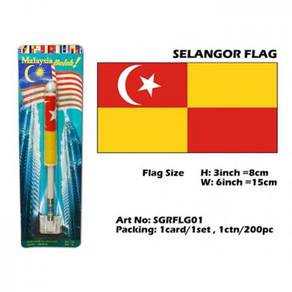 Selangor flag with spring