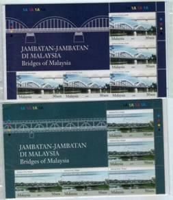 Mint Stamp Sheet Bridge 5 sets header Msia 2008