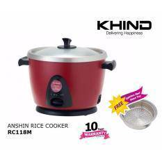 Khind Rice Cooker RC118M Stainlesssteel Pot(NEW)