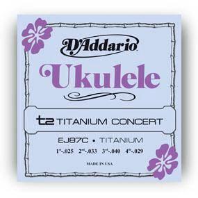 D'Addario EJ87C Titanium Ukulele Strings