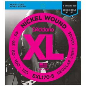 D'Addario EXL170-5 Nickel Wound 5 Strings