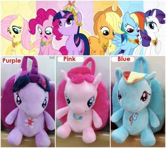 NEW MY LITTLE PONY Soft Plush Toy Backpack bag
