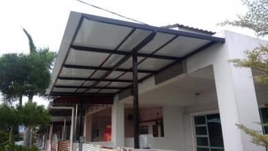 Aluminium composite panel awning