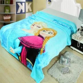 FROZEN ELSA ANNA Selimut Fleece Blanket 1.5X2M