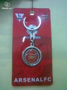 Arsenal FC Silver Metal Plastic Rotatable Pendant