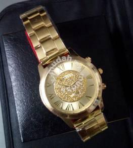 ABWSS-G002 Gold Luxury Quartz Watch Stainless Men
