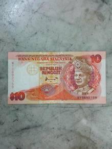 TExp RM 10 Ringgit Malaysia Lama Vintage Old 7