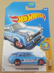 HotWheels '71 Datsun 510 Wagon Light Blue US Card