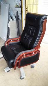Director Genuine Leather Chairs NOS