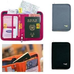 B53648 Passport Document ID Card Travel Bag Holder