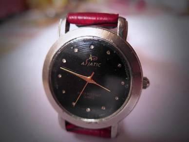 Asiatic Quartz Black Dial Watch