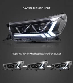 Toyota Hilux Revo Rocco Projector Head lamp DRL