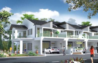 New launch double storey superlink house 22x80 cashback cheras
