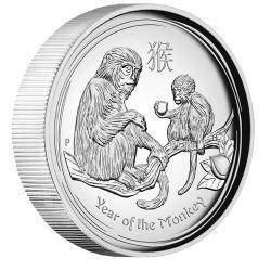 2016 monkey 1oz silver proof high relief coin