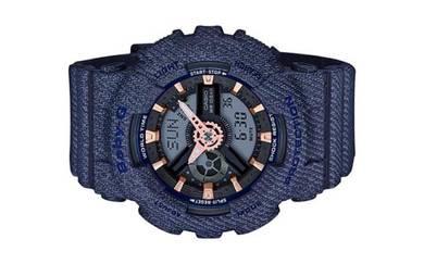 Casio Baby-G Blue Denim Sport Watch BA-110DE-2A1DR