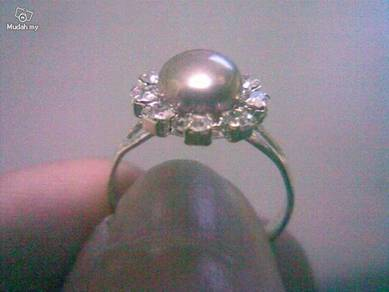 ABRSP-S001 Nice Silver n Pearl Ring - All Size