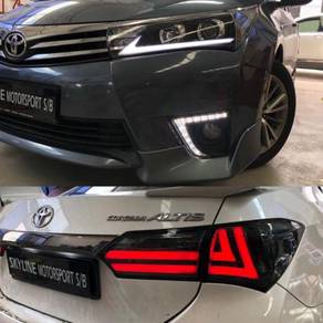 Toyota Altis 14-16 Bumper DRL Led Tail Lamp Smoke