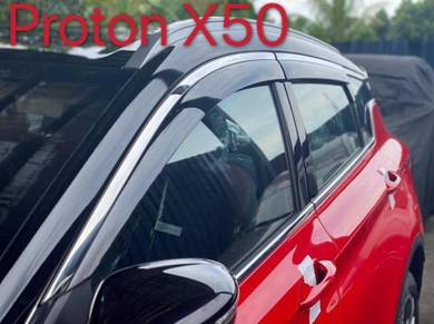 Proton x50 oem door visor with stainless steel