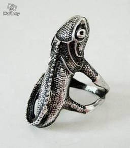 ABRSM-L002 Nice Lizard Style Silver Metal Ring Sz9