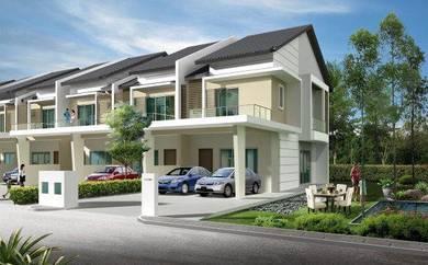 Batu cave new double storey house 22x80