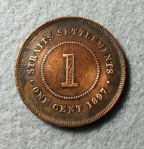 1 Cent Straits Settlements Victoria 1897 coin
