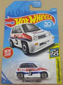 HotWheels '85 Honda City Turbo II US Card White
