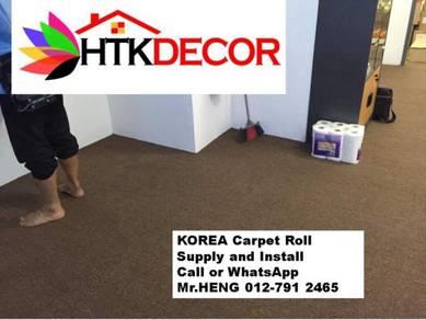 Advisors installation of office carpet roll 245AP