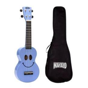 Mahalo U-Smile, Soprano Ukulele, Light Blue