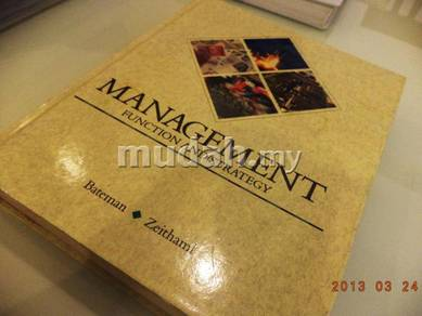 Text Book - Management Function and Strategy