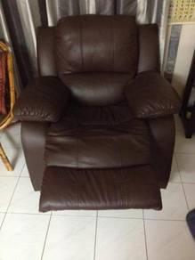 Original Leather Recliner Brown color sofa